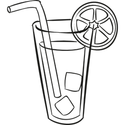 black and white library Beverage Clipart pop drink