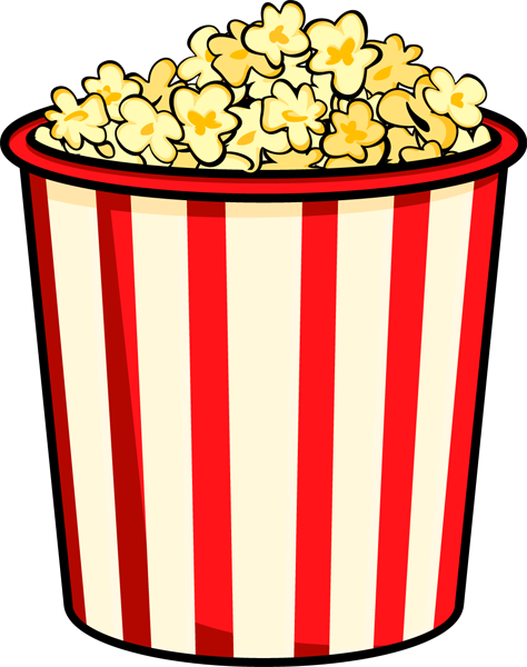 jpg freeuse library Bowl Of Popcorn Clipart