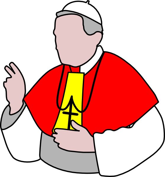 graphic freeuse library Clip art at clker. Pope clipart.