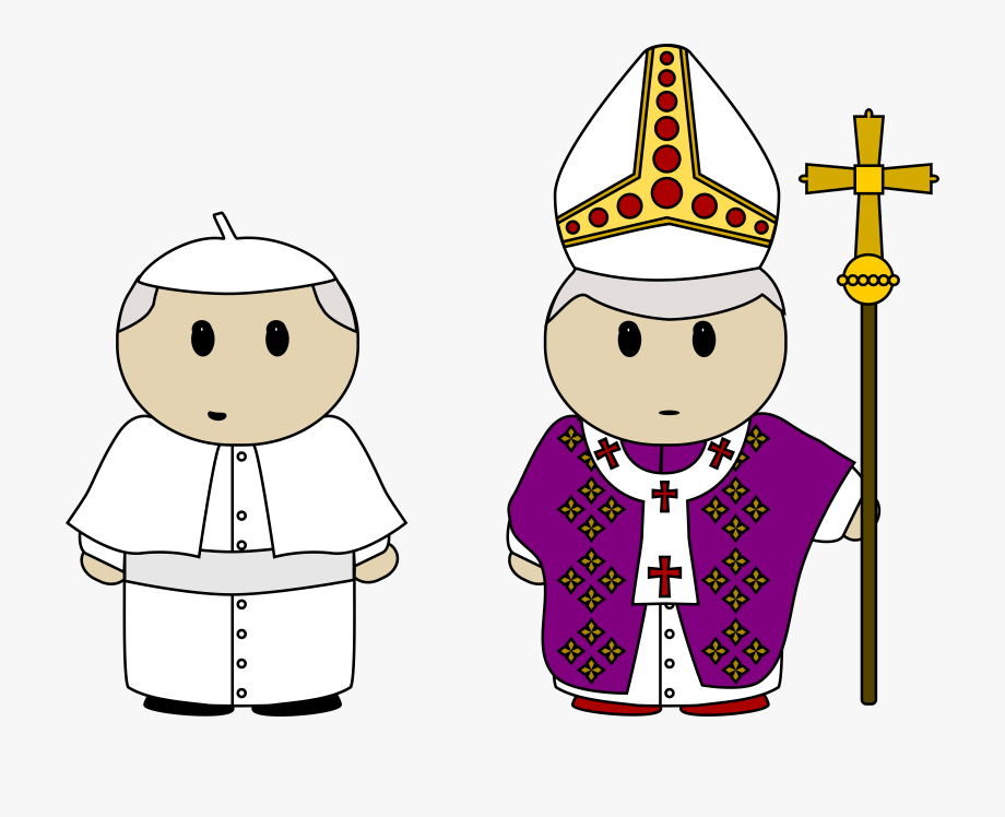 svg transparent library Pope clipart. Graphic freeuse library icons.