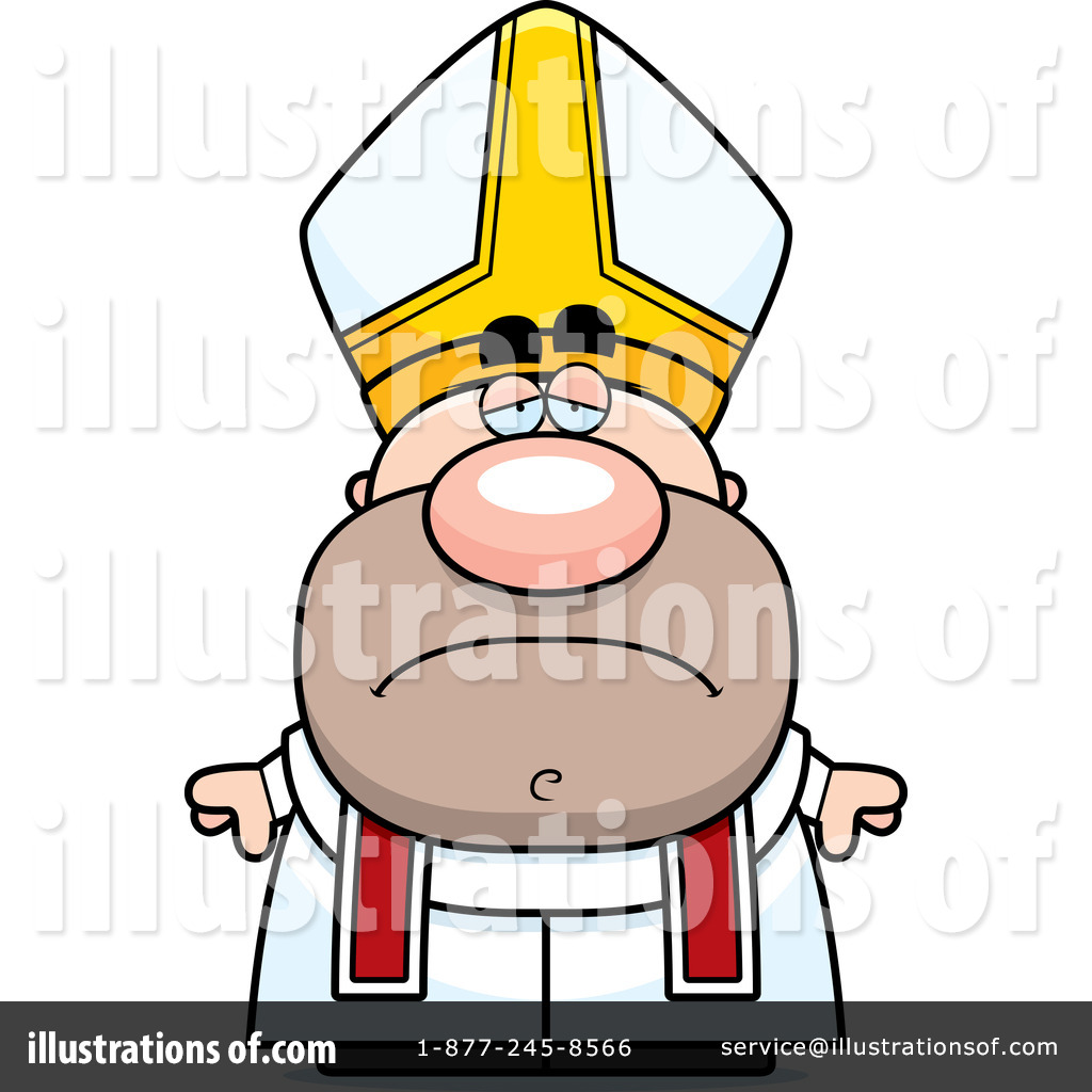 graphic black and white library Pope clipart. Illustration by cory thoman.