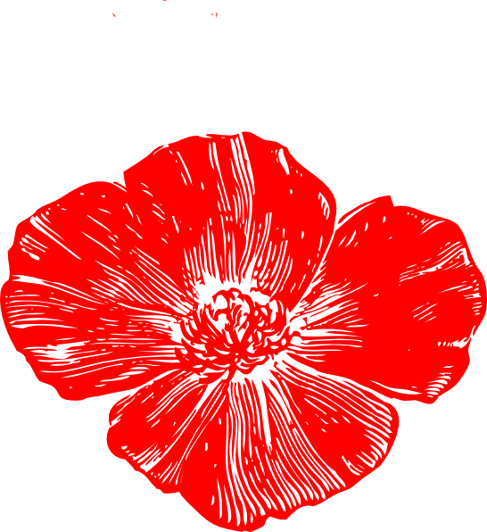 graphic black and white stock Poppy clipart small. Red clip art at