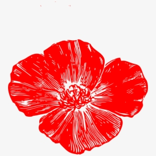 jpg free library Red flower peach clip. Poppy clipart small