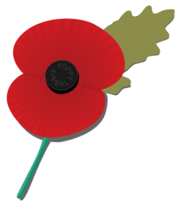 graphic royalty free stock Remembrance day parade rd. Poppy vector