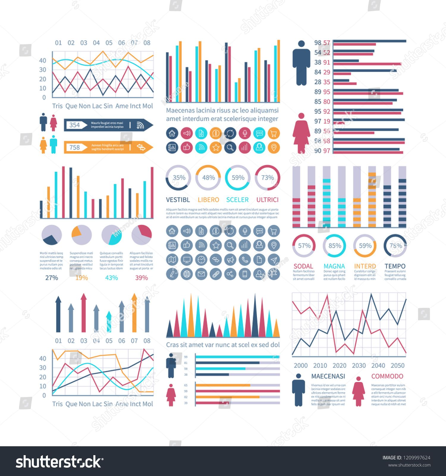 clip art freeuse download Infographic financial flow chart. Vector charts statistics
