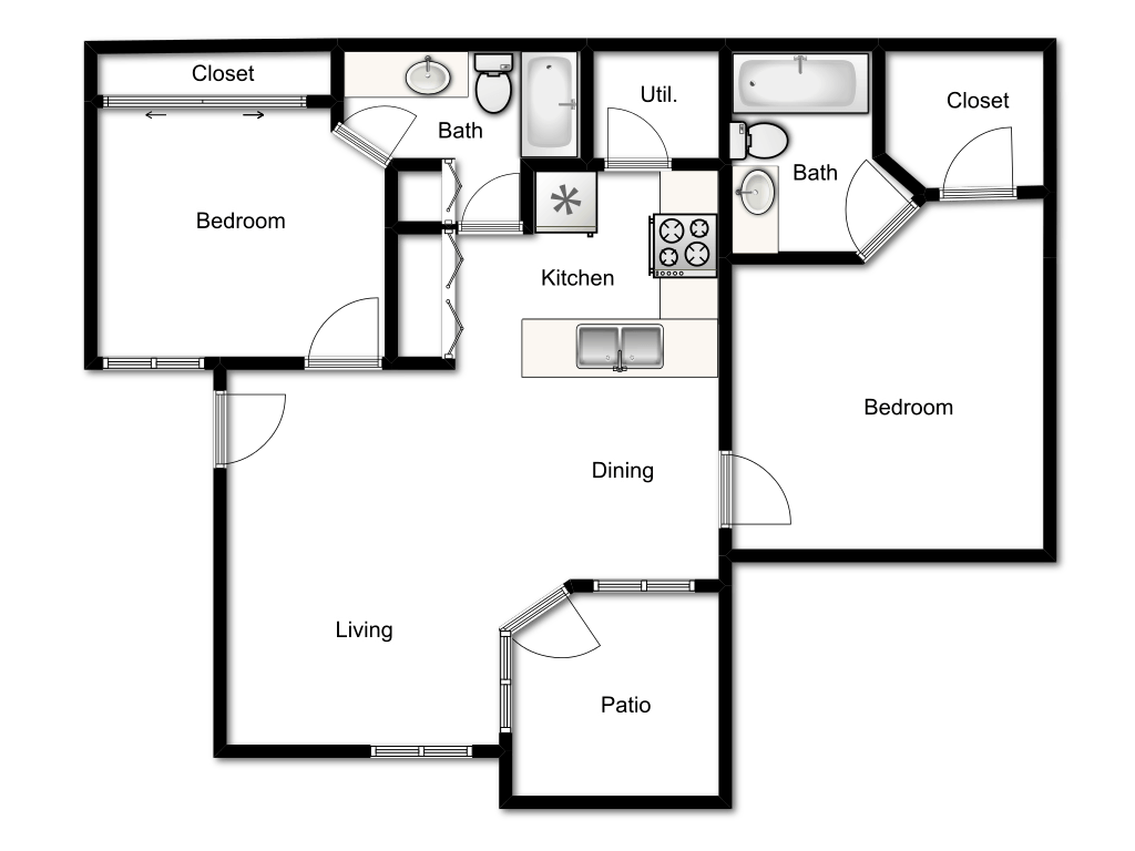clip black and white download Bedroom Apartments East The Boulevard Floor Plan Silverwood Sophora