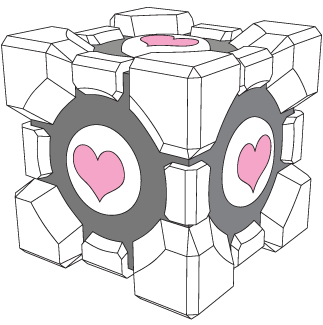 vector free download Companion Cube vector by xQUATROx on DeviantArt