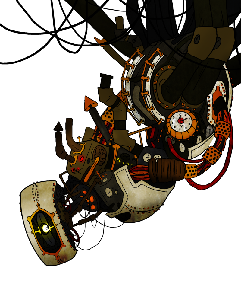 royalty free stock Steampunk GLaDOS by Homemade