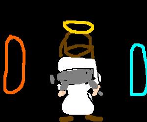 banner Jesus had Portal gun