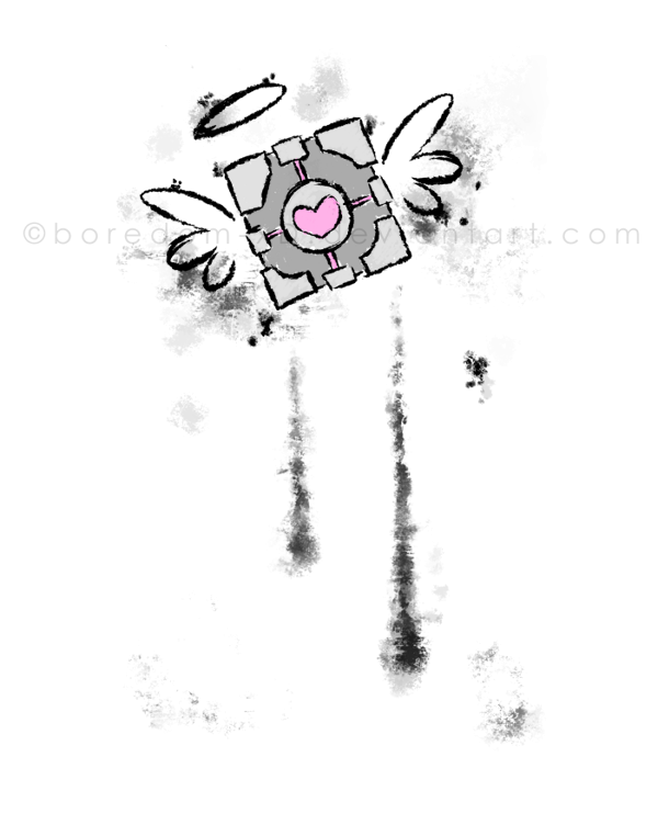 svg transparent library Companion Cube by Boredom