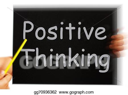graphic library download Positive clipart optimism. Stock illustrations thinking message