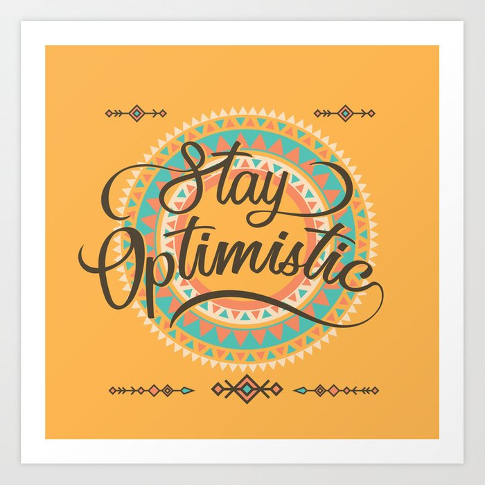 vector black and white library Stay optimistic thinking gift. Positive clipart optimism