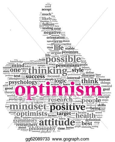 picture royalty free library Positive clipart optimism. Drawing concept in tag
