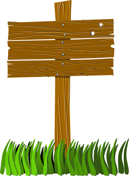 clip art download This wooden sign clip. Post clipart.