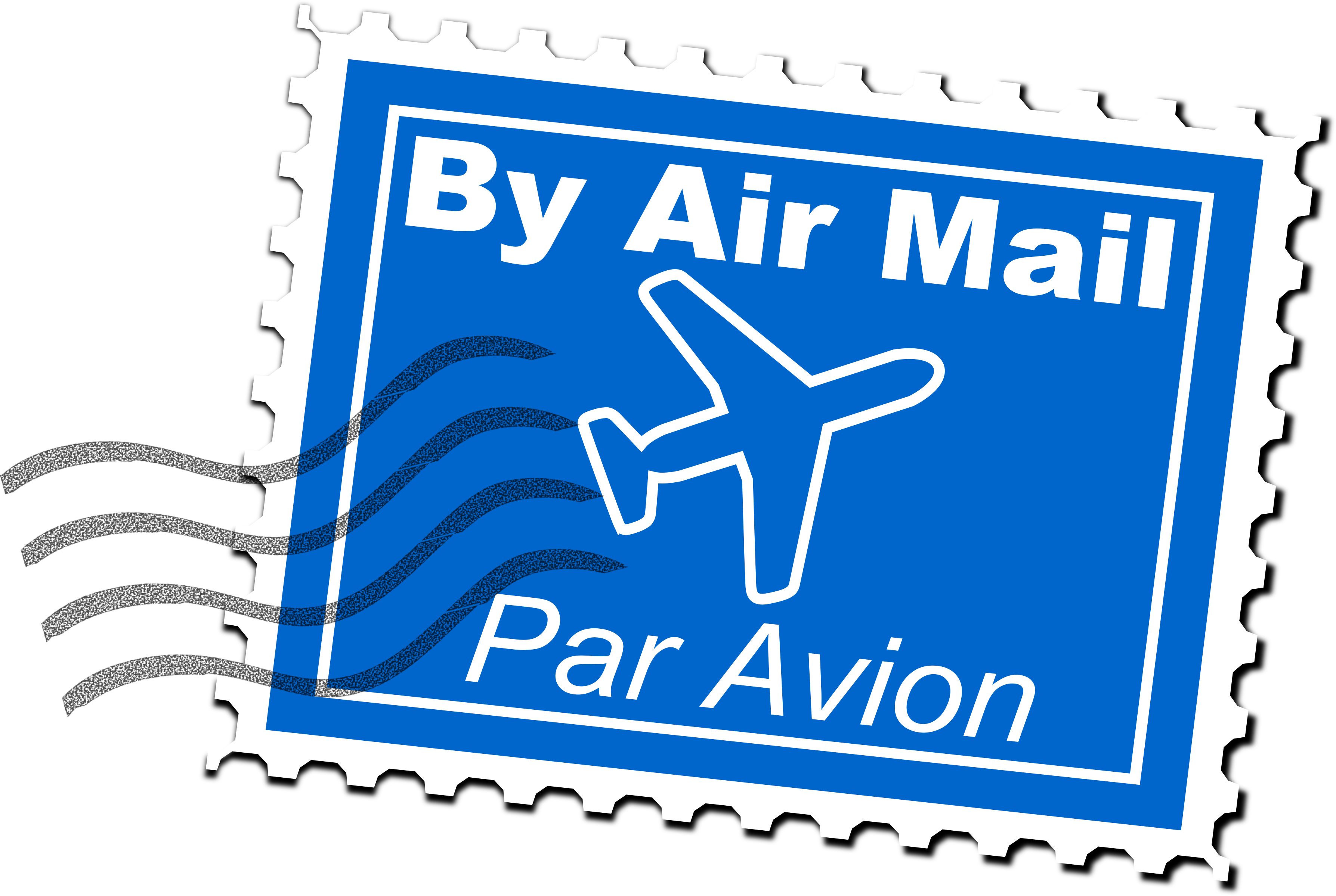 clipart black and white stock Air mail postage stamp. Post clipart stamped envelope
