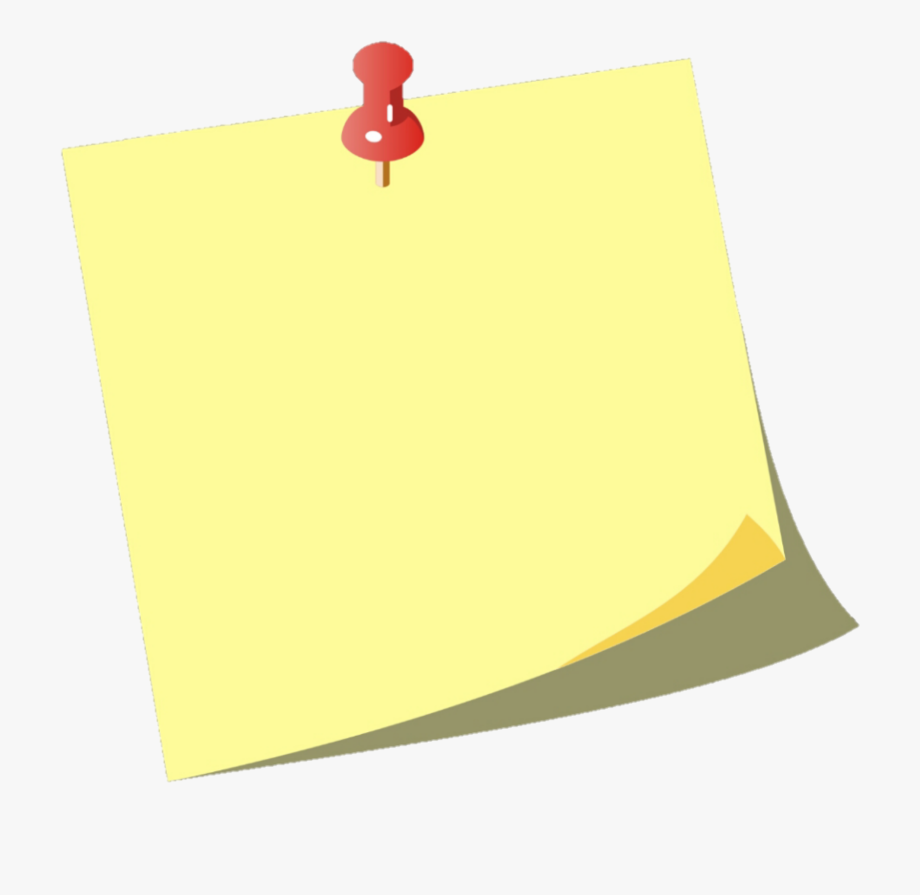 clip art freeuse download Post it clipart. Pin posted note png.