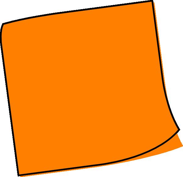 clipart Orange note clip art. Post it clipart large.