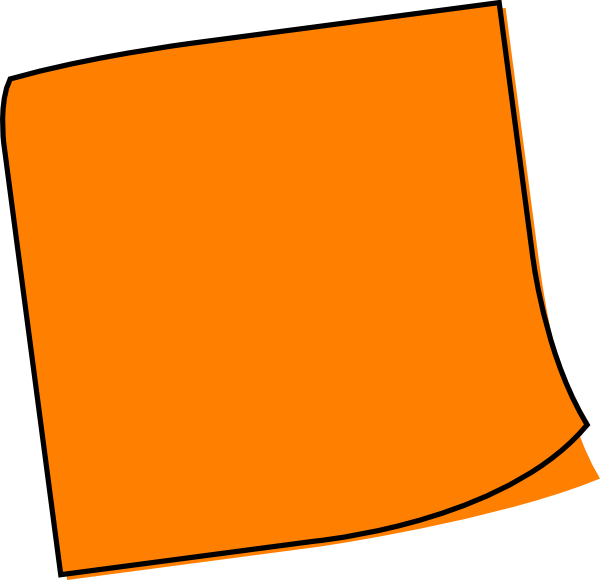 vector royalty free download Orange Sticky Note Clip Art at Clker