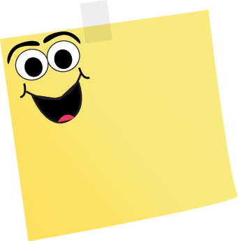 clipart library library Projects ideas notes images. Post it clipart printable