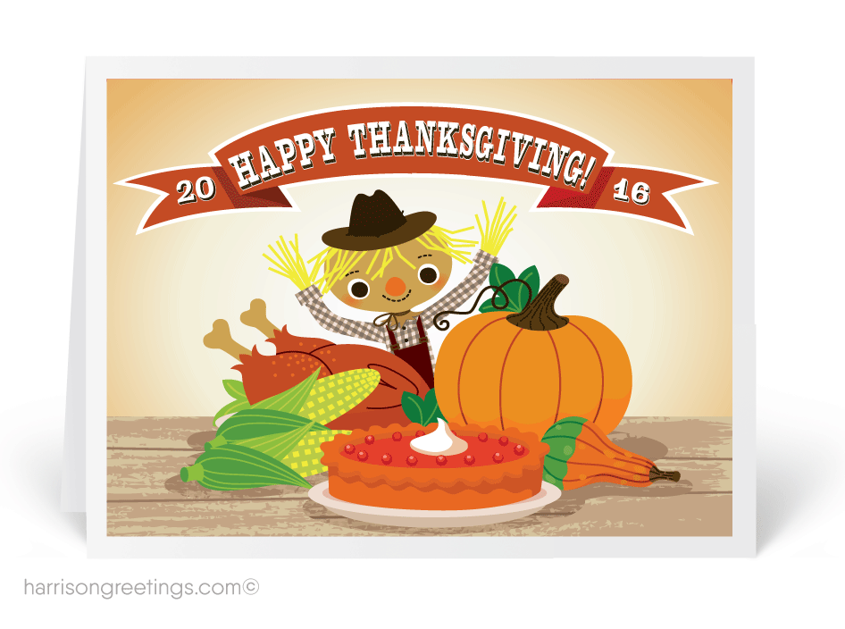 vector free download Autumn Blessings Thanksgiving Card