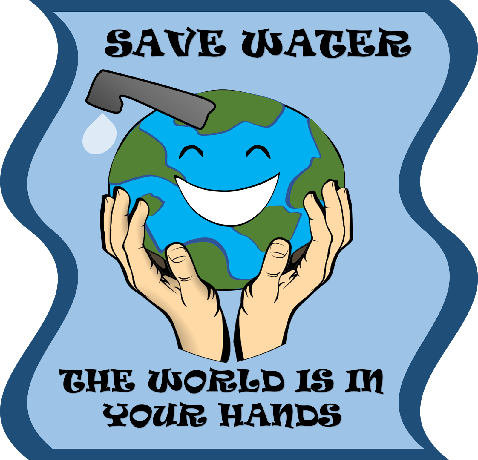 image free stock Save water free on. Poster clipart.