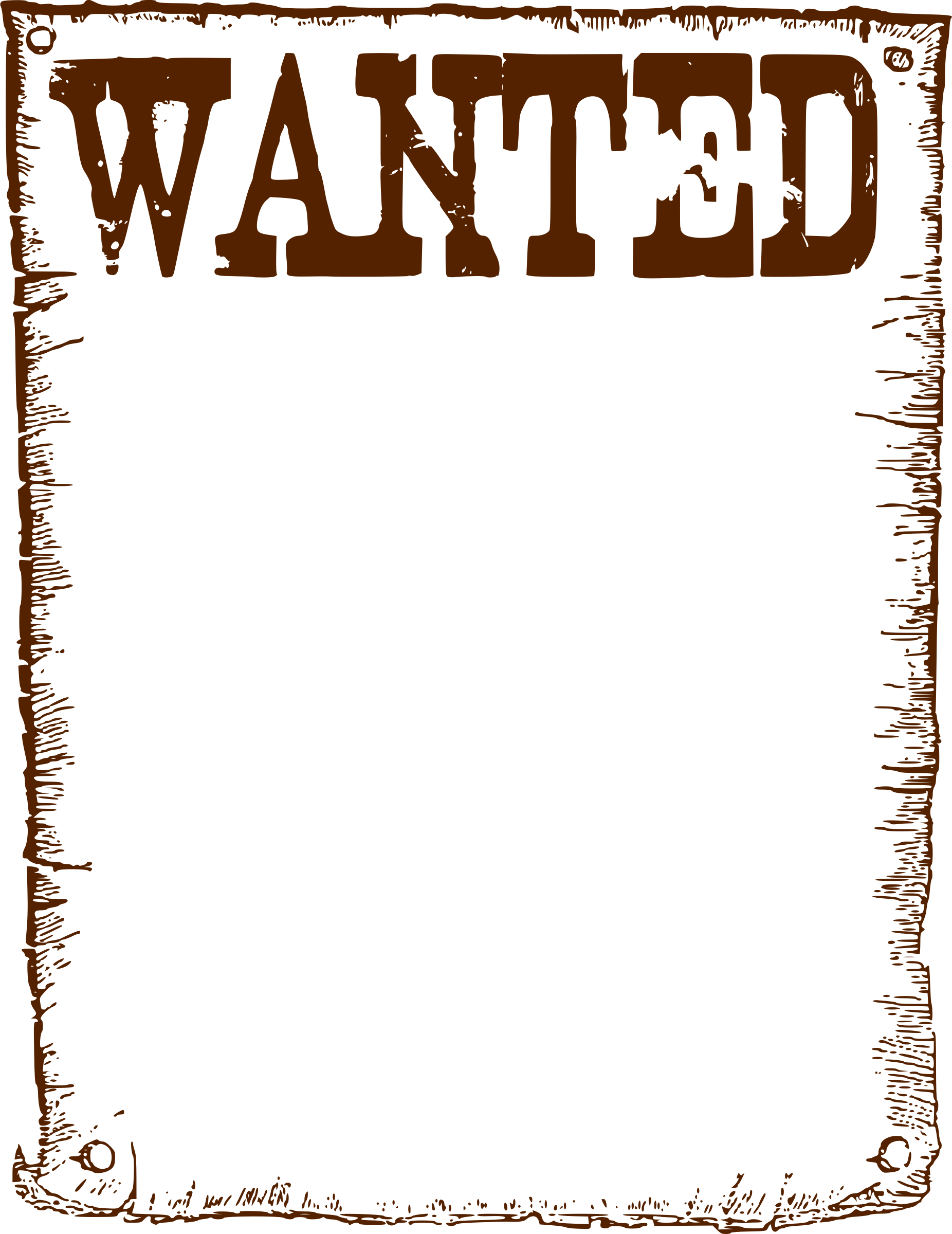 graphic royalty free download Western wanted poster clipart. Template clip art