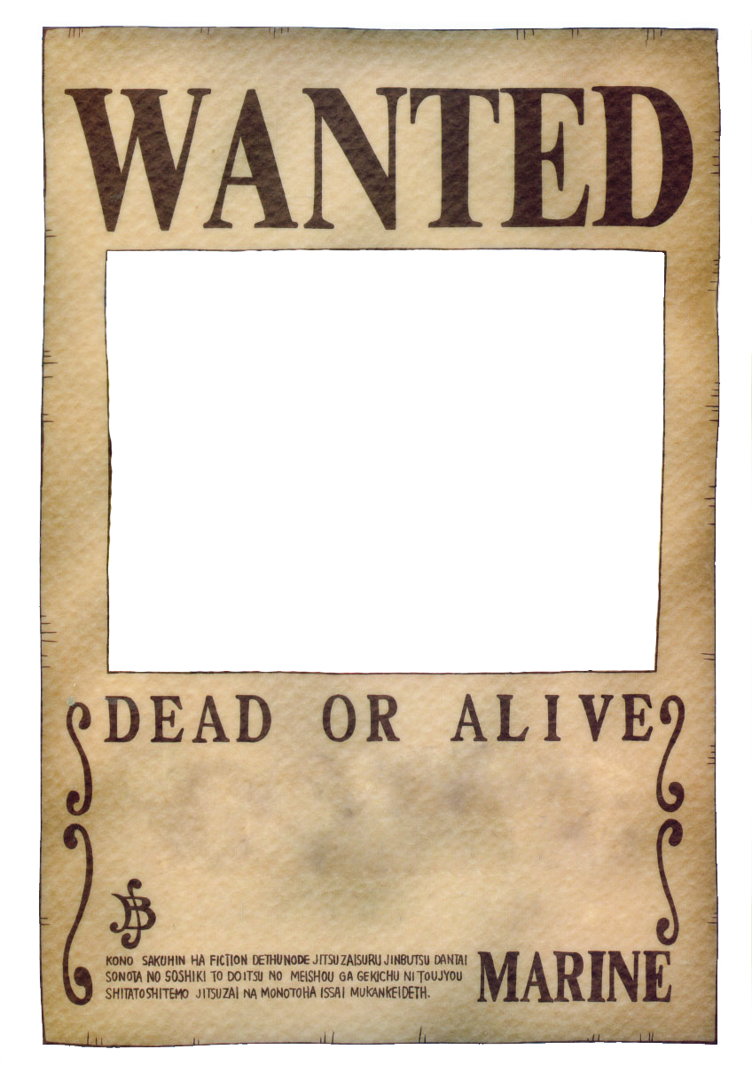 clip art library Western wanted poster clipart. One piece template