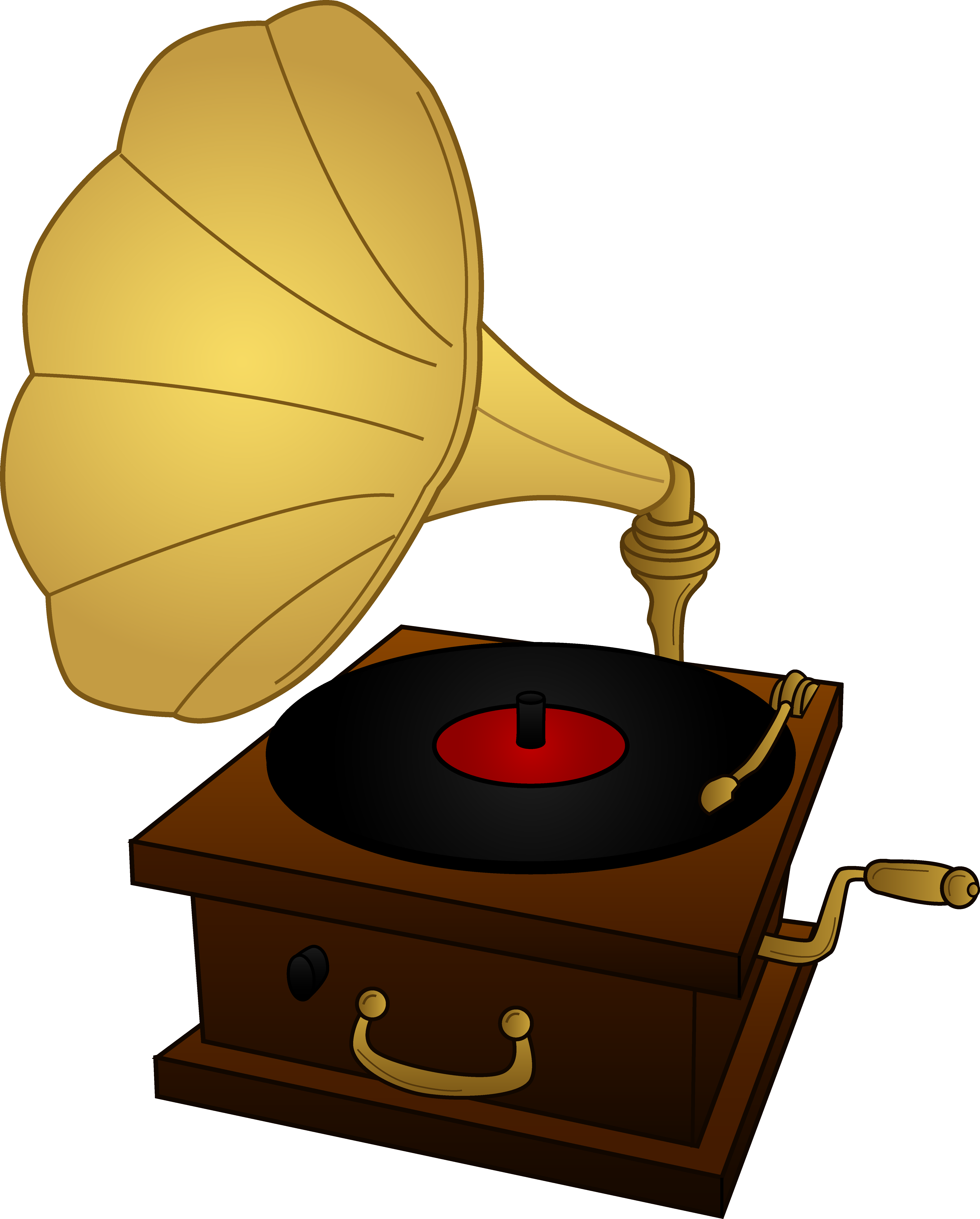 clipart black and white stock Old record player drawing. 50s clipart golden oldies