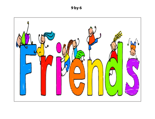 graphic royalty free stock the word friends clipart #63867363