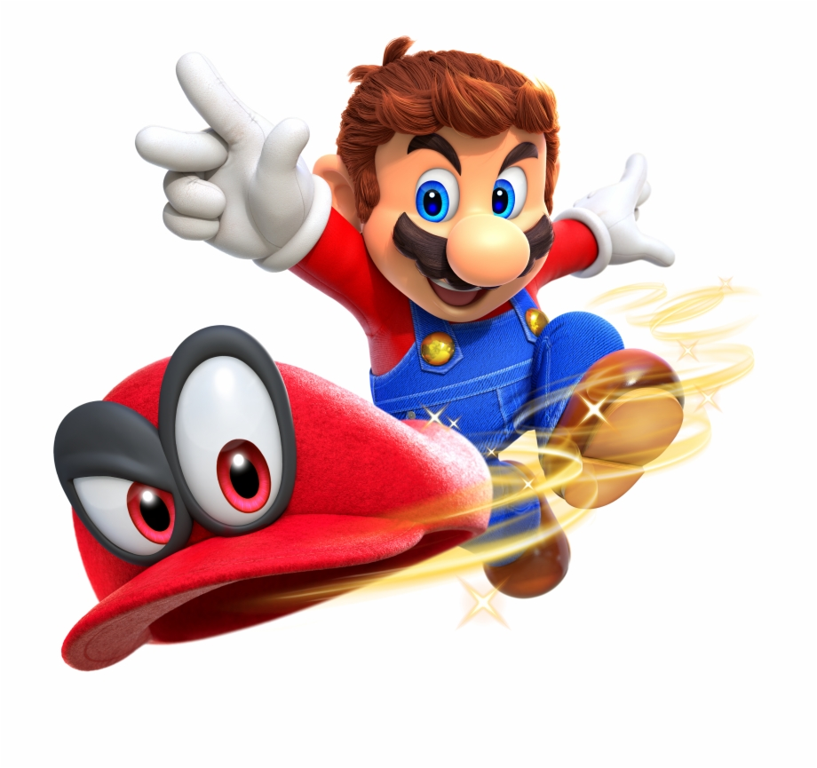 banner freeuse download Images and cappy hd. Poster clipart super mario odyssey