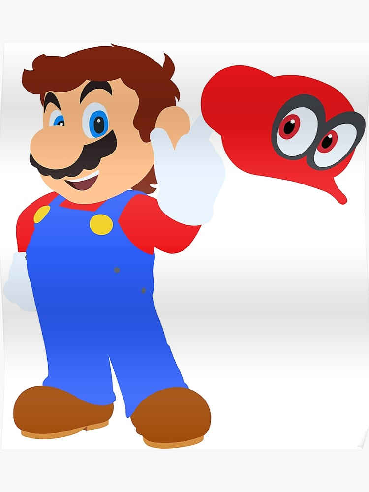 clip royalty free library Poster clipart super mario odyssey. Cappy