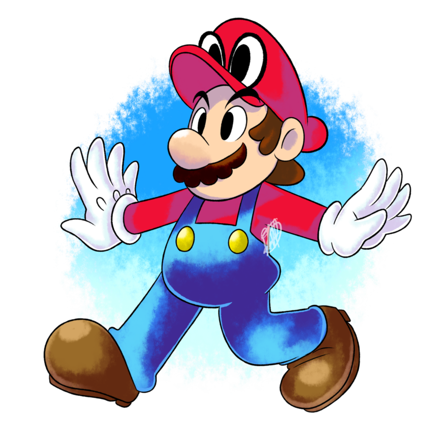 clip transparent library Fanart by dnpinotti on. Poster clipart super mario odyssey