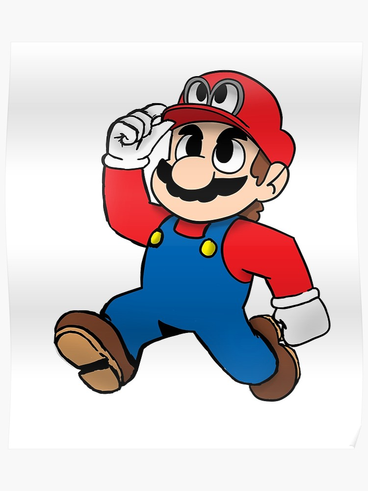 jpg free stock Poster clipart super mario odyssey.