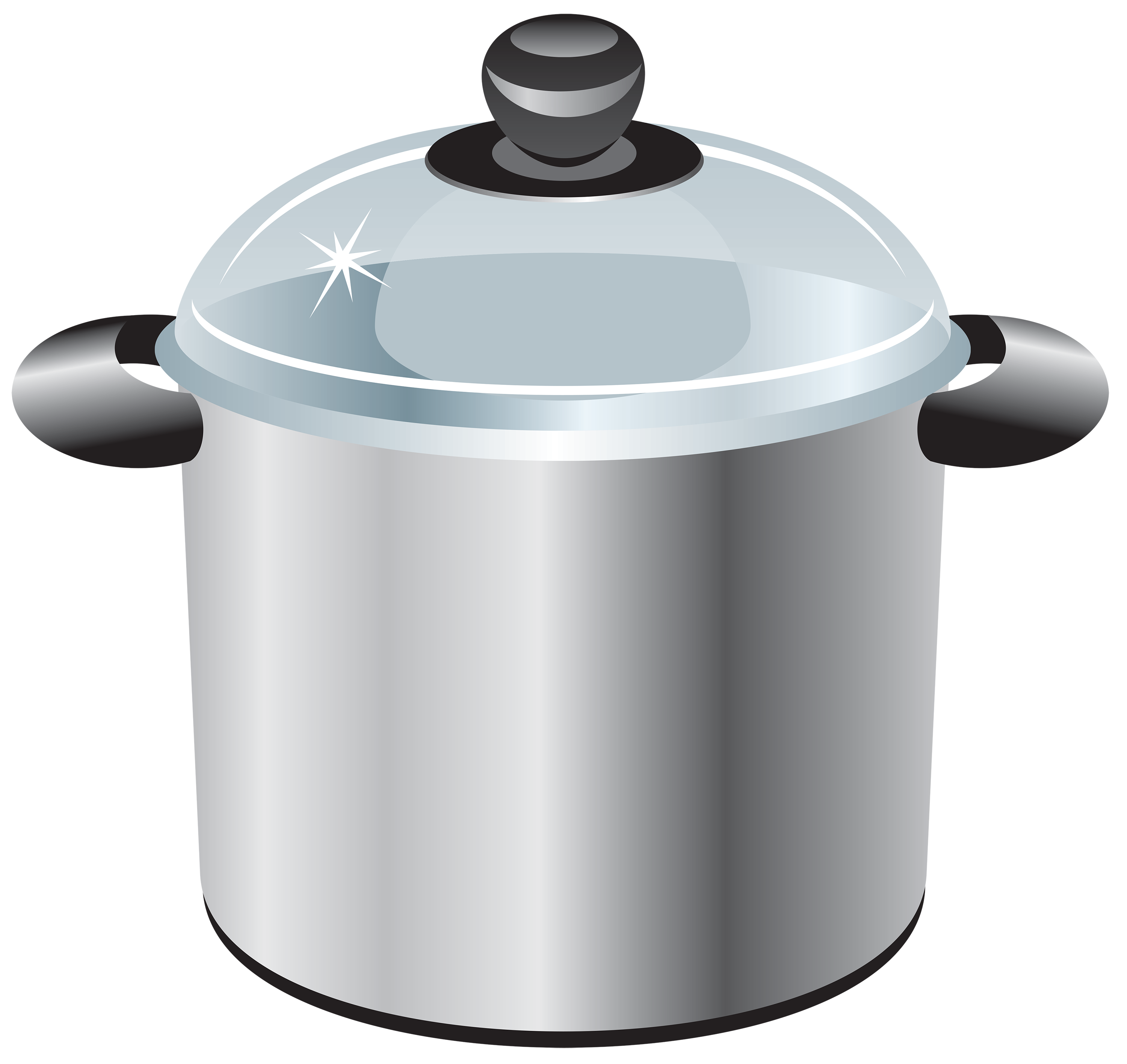 graphic royalty free stock Pot clipart. Silver cooking best web.