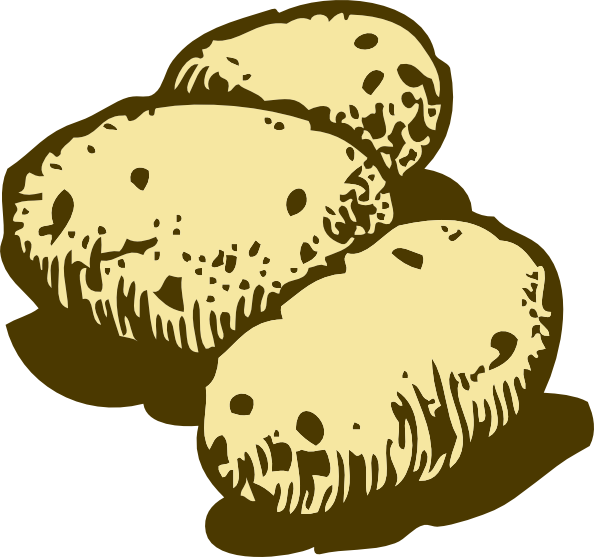 vector royalty free stock Potatoes clipart. Clip art at clker.