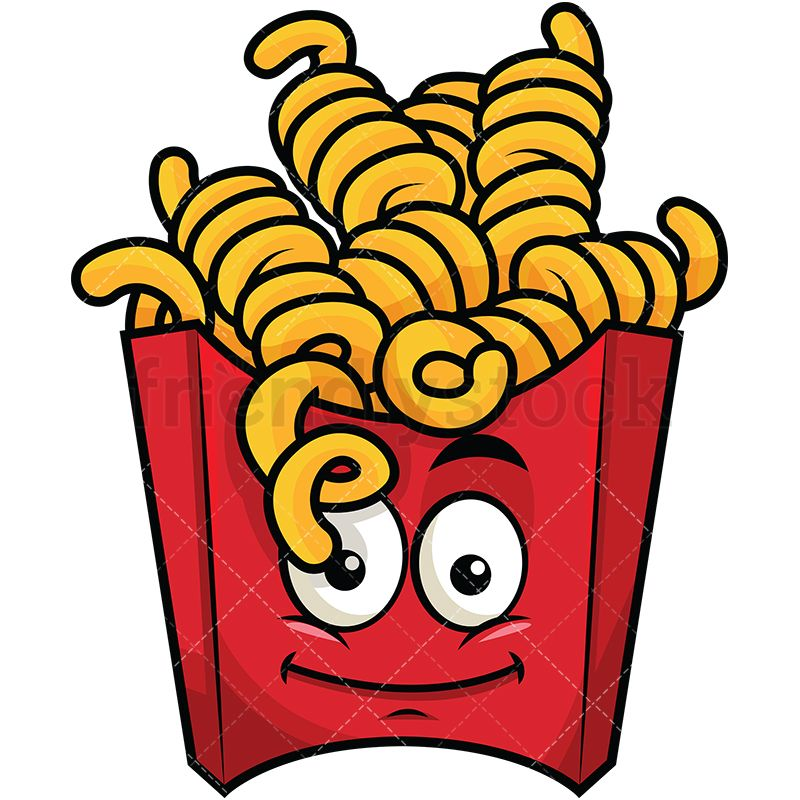 picture freeuse stock Potatoes clipart vector. Curly french fries emoji