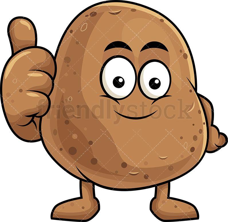 free Potatoes clipart vector. Potato mascot making a