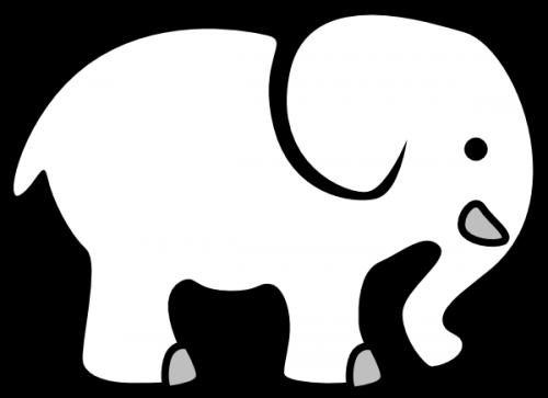 jpg royalty free stock Summer picnic elephant bingo. Potluck clipart black and white