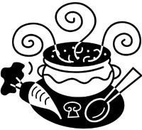 jpg royalty free download Free cliparts download clip. Potluck clipart black and white