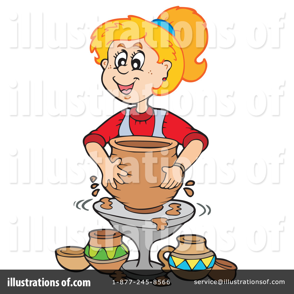 vector royalty free download Pottery clipart. Illustration by visekart .
