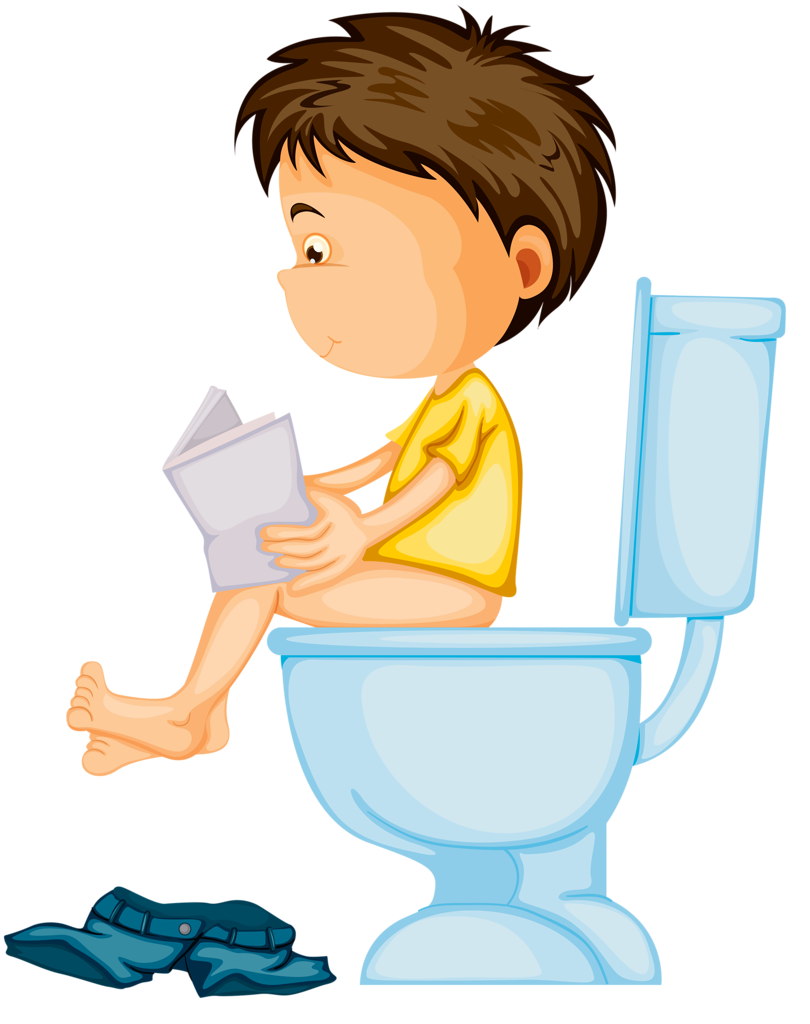 graphic black and white library boy potty clipart #59976329