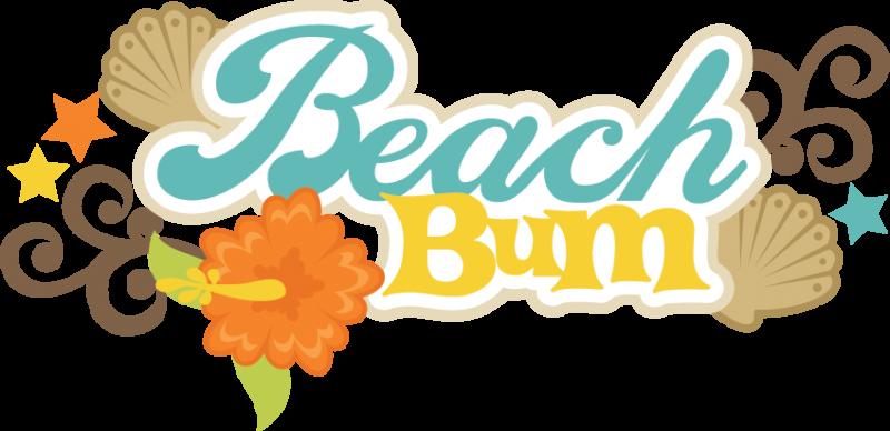 banner transparent library Beach Bum Clipart