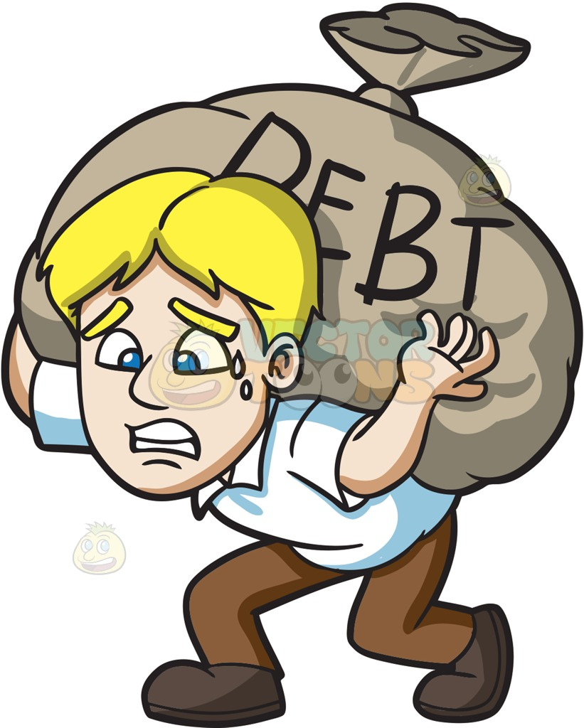 clip freeuse stock Collection of debt free. Poverty clipart debtor