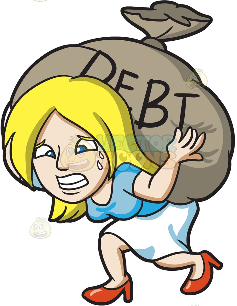 clip freeuse stock Poverty clipart debtor. Collection of debt free