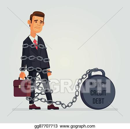 picture transparent Poverty clipart debtor. Vector stock office worker