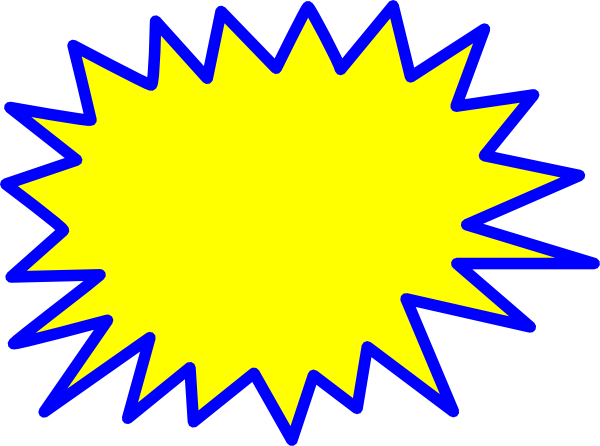 jpg free download Yellow Explosion Blank Pow Clip Art at Clker
