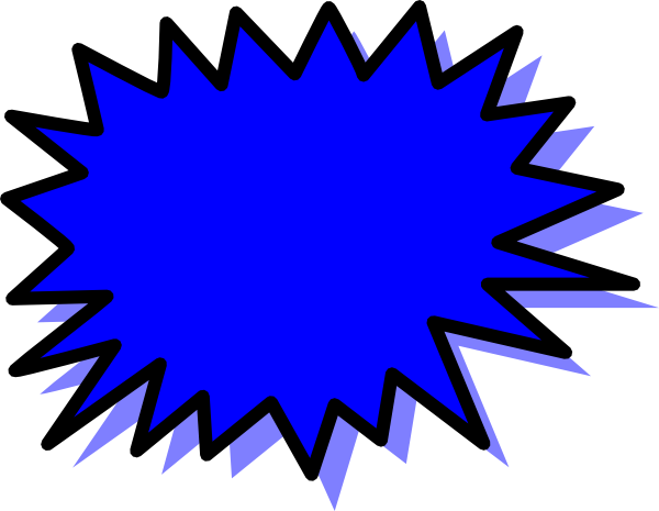 png royalty free download Blue Explosion Blank Pow Clip Art at Clker