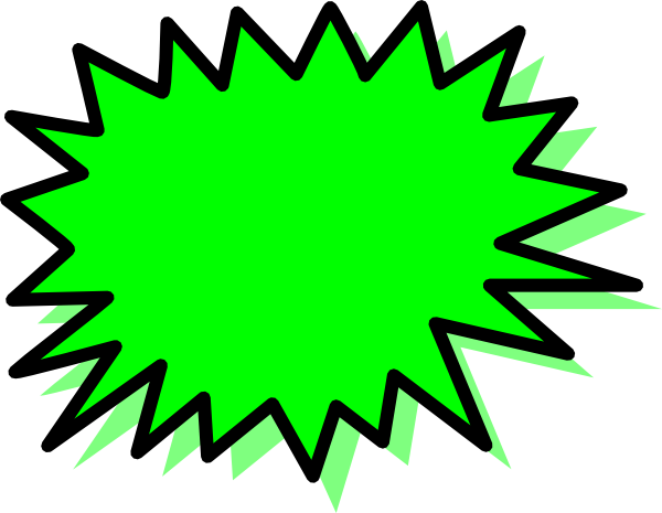 banner library Green Explosion Blank Pow Clip Art at Clker