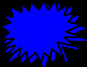 clip freeuse Blue Explosion Blank Pow Clip Art at Clker