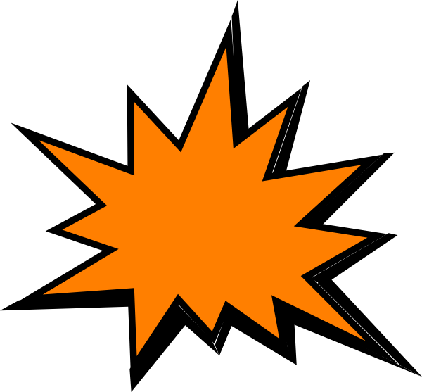 graphic royalty free stock Orange Comic Pow Clip Art at Clker
